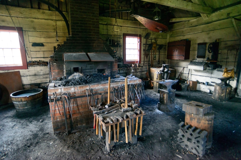 The Village Blacksmith display at Fort Vancouver National Historic Site