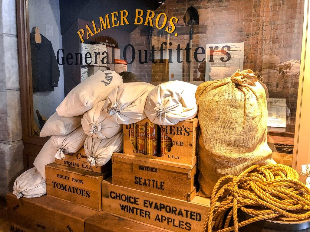 Display at Visitors Center, Klondike Gold Rush Historical Park, Seattle