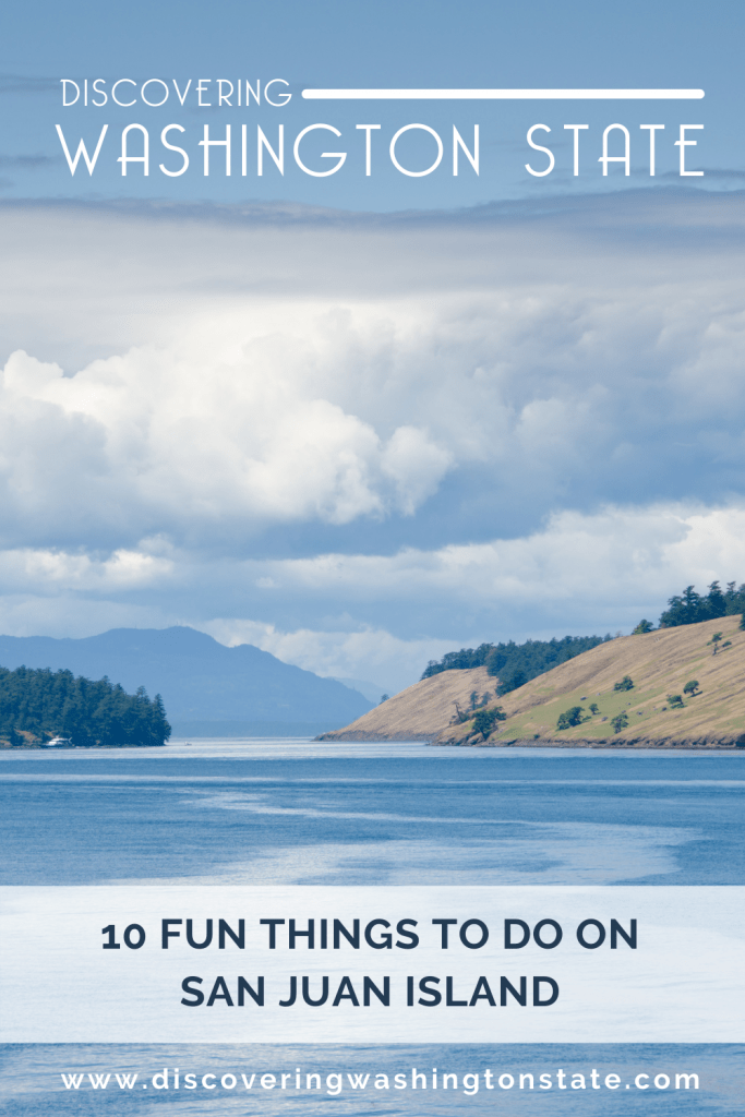 pinterest pin with a view of san juan island in the pacific northwest
